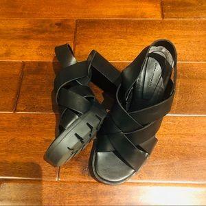 Zara Shoes - Zara Woman Chunky Block Heel Sandals Size 37 7